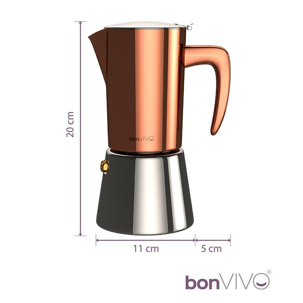 Medidas cafetera moka Bonvifo intenca