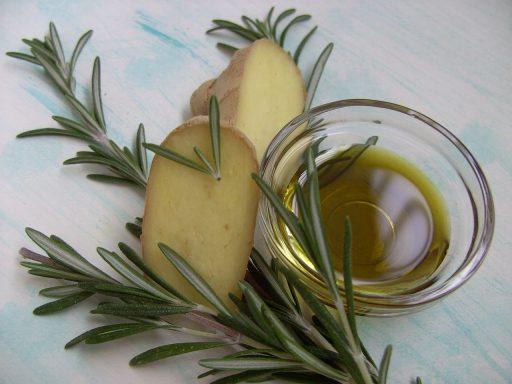 aceite aromatizado jengibre