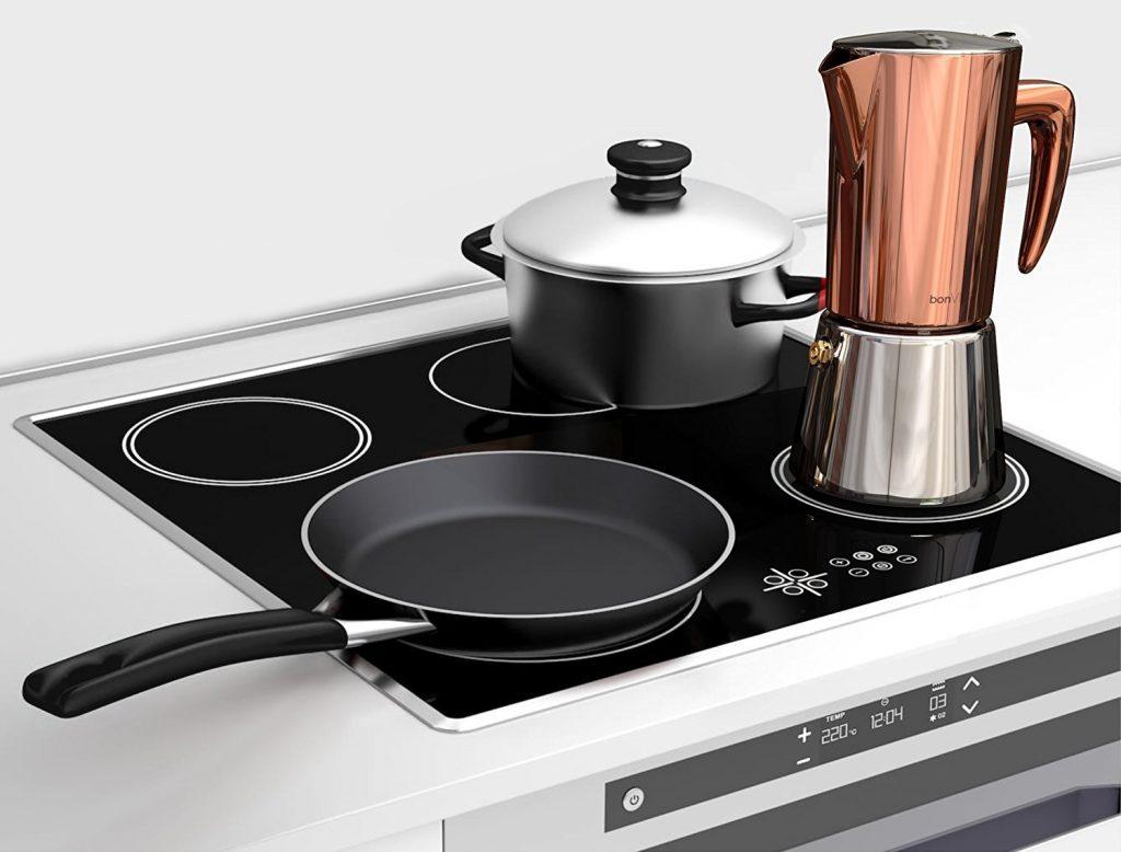Cafetera moka Bonvivo Intenca apta para hacer cafe en placa de inducción